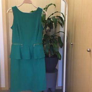 Emma & Michele Emerald Green Peplum Dress